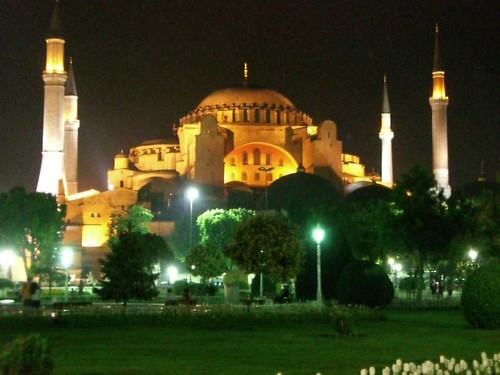Aya Sofya at night
