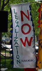 """""""Legalization Now"""" Banner At The May..."""