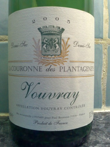 La Couronne des Plantagenets Vouvray