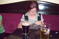 Krista knitting