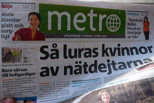 Swedish Metro Newspaper