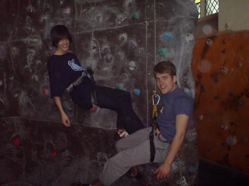 Aku and me climbing