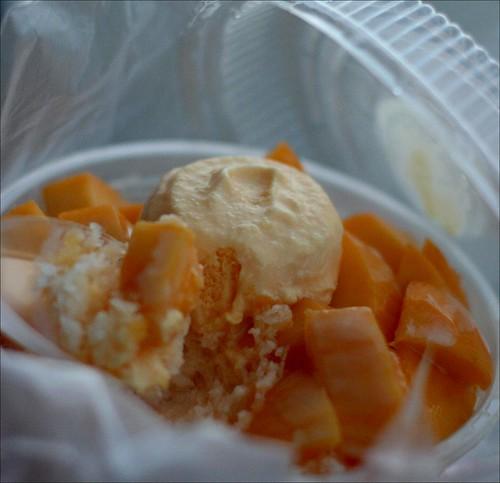 mango iced dessert
