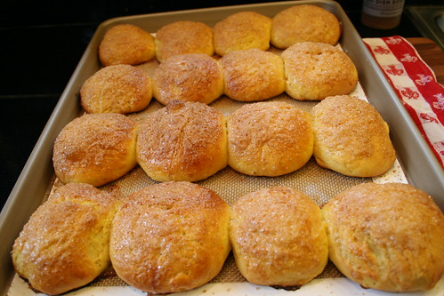 hot saffron buns!