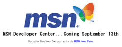 MSN Developer Center