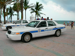 Florida Beach - Police Cars