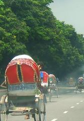 Rickshaws in Dhaka