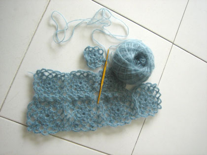 soon to be a shawl / shrug