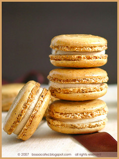 Coffee Hazelnut Macarons