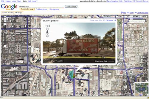 google vegas map