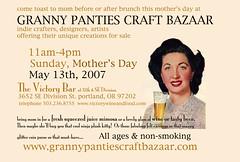 Granny Panties Craft Bazaar