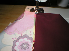 Sew down seam allowance