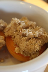 Lazy Baked Apricots, before baking