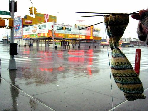 Traveling Sock at Coney Island