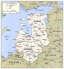 Map of the Baltic States