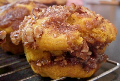 pumpkin praline muffin