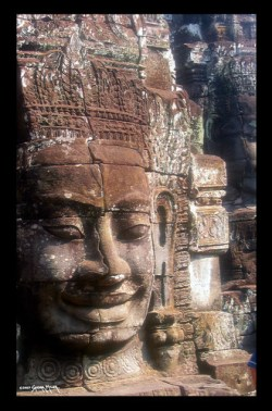 ONE OF THE FEW BUDDHA FACES LEFT AFTER REPEATED LOOTING