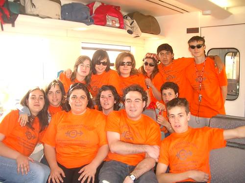 En el tren hacia Madrid