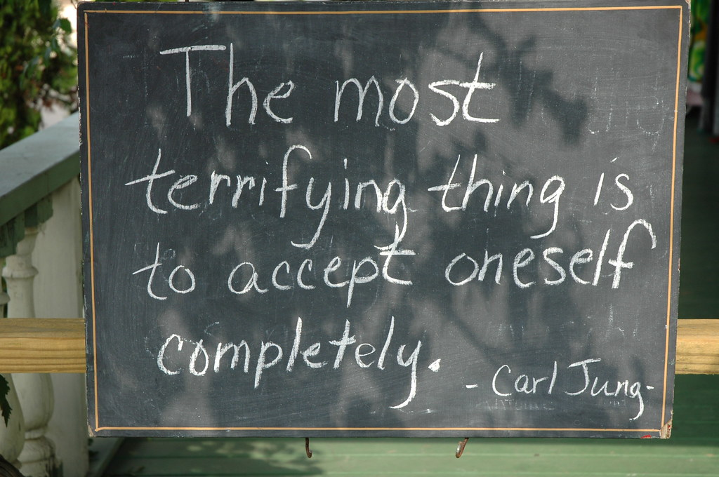chalkboard quote Carl Jung