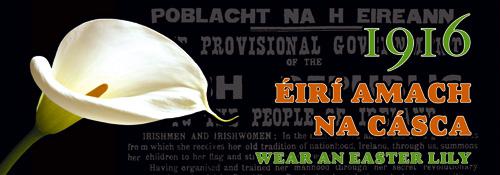 Campaña para fomentar el uso del Lirio de Pascua en recuerdo de los hérores de 1916