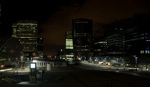 La Defense at night