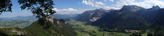 From Burg Falkenstein - a pano view East toward Fussen and South toward Reutte