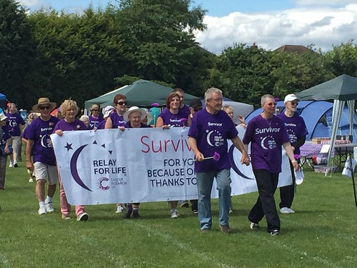 Today is all about...Stockport Cancer Research Relay for Life