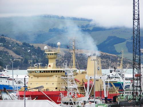 N. B. Palmer fires up engines, leaves Lyttleton for Antarctica