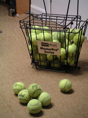 Tennis Balls and Hopper