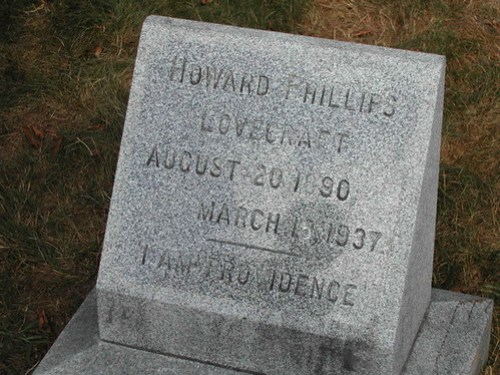 H.P. Lovecraft's grave