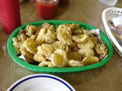 Fried Pickles at Ezell's Fish Camp, Lavaca AL