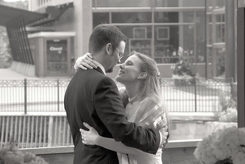 Second kiss as a married couple: stealing a private moment