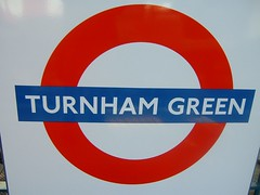Turnham Green Tube sign