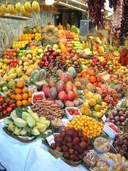 Fruit display in Barcelona