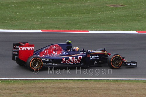 Carlos Sainz Jr in Free Practice 3 at the 2015 British Grand Prix