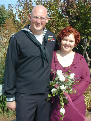 Our wedding day, 12 October 2001