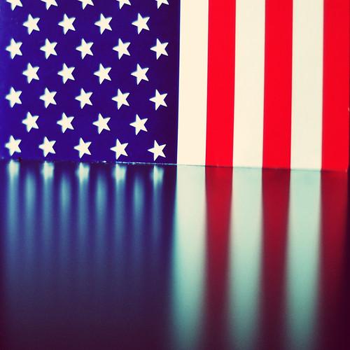 american flag sinking