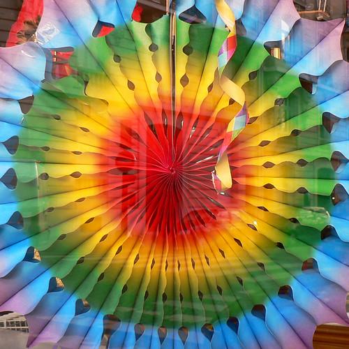 colourful fan