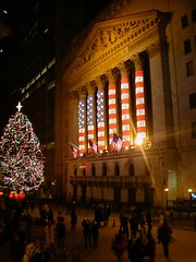 NYSE at night