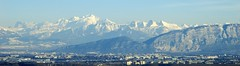 The Alps and mont blanc taken from Crozet