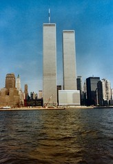 WTC pre WFC 1984 from boat Hudson NYC