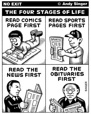 Andy Singer's No Exit: Four Stages of Life