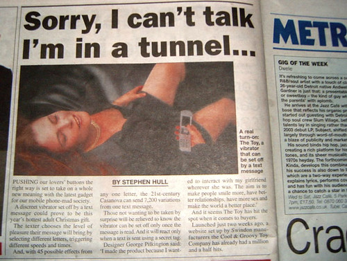 Metro article - Text operated vibrator, by Annie Mole @ Flickr
