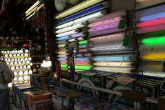 neon and lightbulb shop