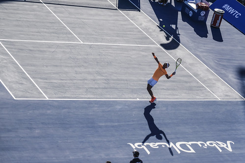 """Rafael Nadal Casts a shadow on the tennis court • <a style=""""font-size:0.8em;"""" href=""""http://www.flickr.com/photos/125636673@N08/32002670885/"""" target=""""_blank"""">View on Flickr</a>"""