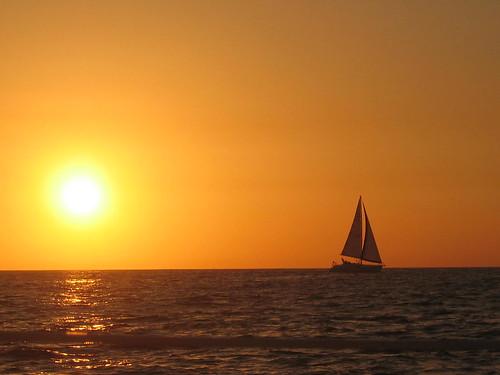 Sailing off into the sunset, tiarescott, Flickr