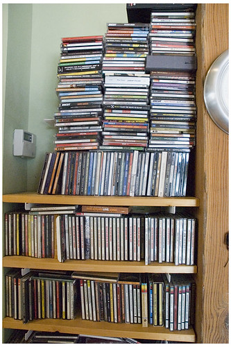 CDs shelf one