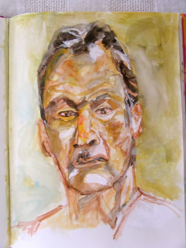 from a self portrait by Lucien Freud