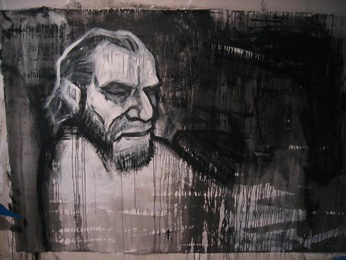 Street art of Bukowski.