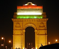 India Gate on 57th Republic Day
